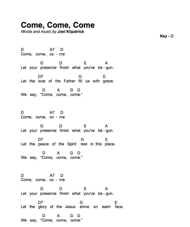 Icon - Come, Come, Come