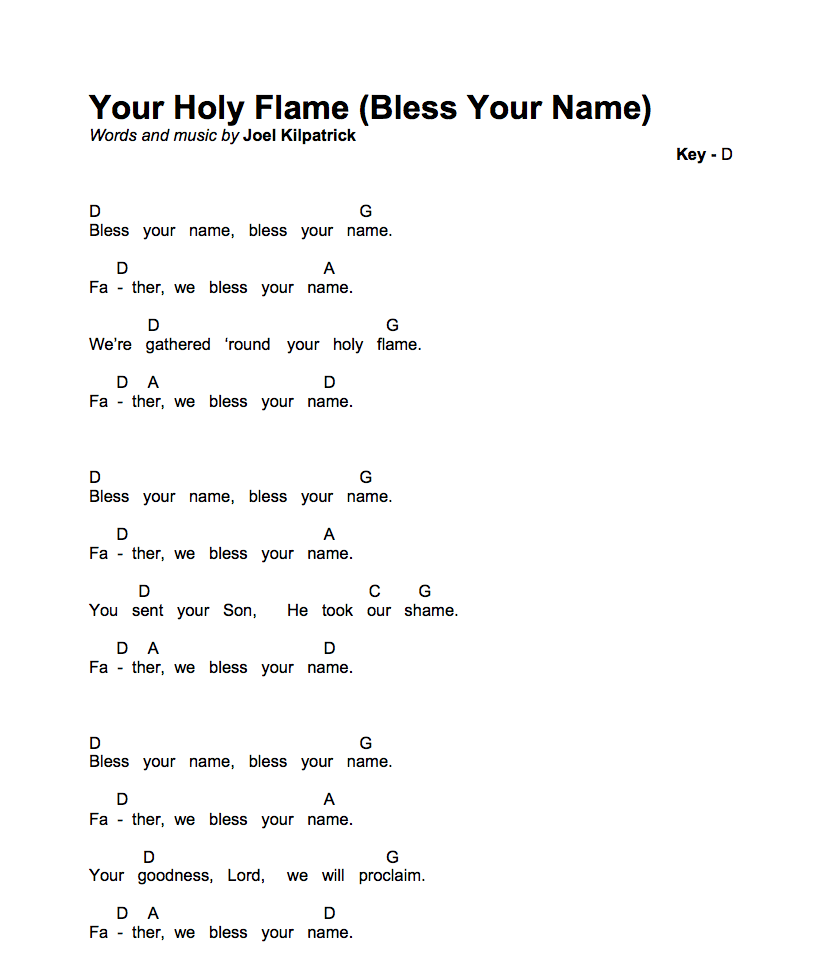 Icon - Your Holy Flame (Bless Your Name)