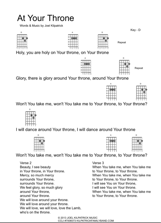 Icon - guitar chart At Your Throne