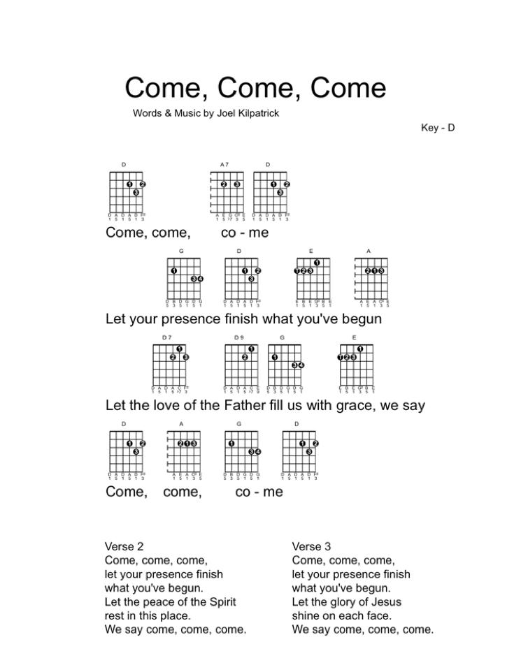 Icon - guitar chart Come, Come, Come